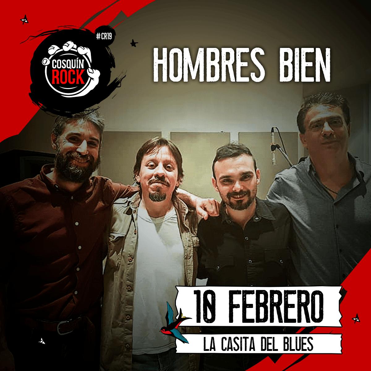 Hombres Bien en Cosquín Rock 2019