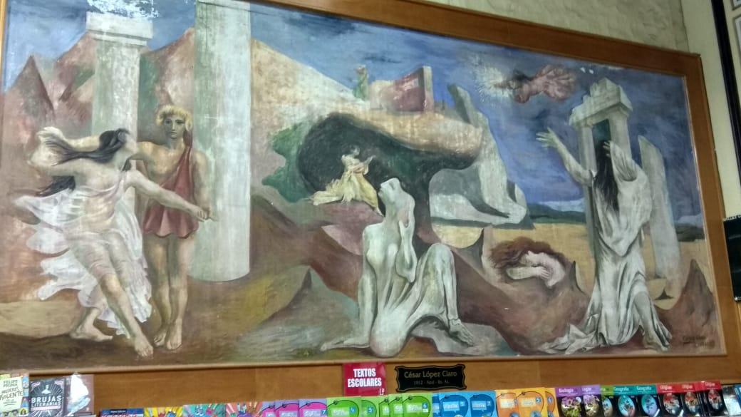 mural de César López Claro