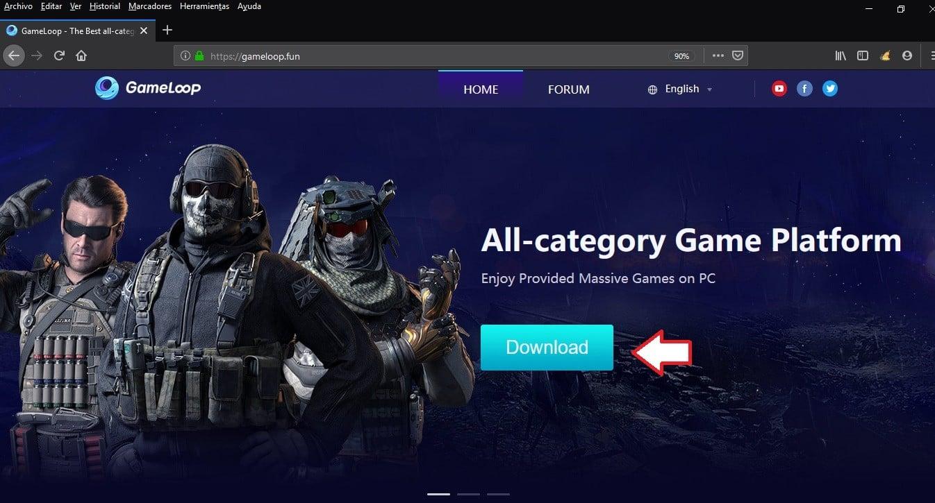 Descarga Game Loop para jugar Call of Duty Mobile en PC