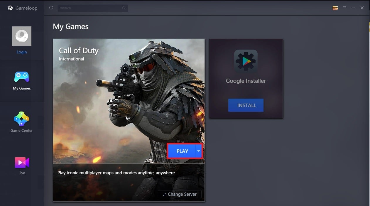 Selecciona el servidor, presiona play y a jugar!
