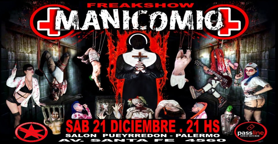 Manicomio Freakshow 21 de Diciembre