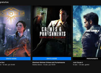 Sherlock Holmes Crimes & Punishments, Close The Sun, Just Cause 4 y más disponibles gratis en abril en Epic Games Store